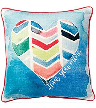 Primitives by Kathy 9-Stripe Together Pillow, 14.5-Inch by 10-Inch 21755