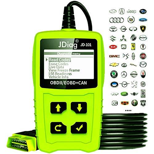 JDiag Enhanced OBD II Vehicle Code Reader Automotive OBD2 Scanner Auto  Check Engine Light Scan Tool OBD2 Code Scanner