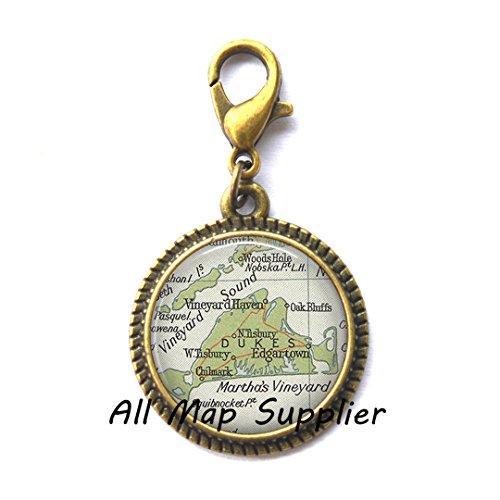 Martha Urn - Beautiful Zipper Pull,Martha' Vineyard Beautifulmap Charming Zipper Pull, map jewelry resin Charming Zipper Pull, map Zipper Pull photo Charming Zipper Pull,A0317