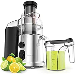 900W Wide Mouth Centrifugal Juicer - Elechomes 2 Speeds High Speed Juicer for Fruits and Vegetables with Premium Food Grade Titanium-Coated Cutter (Centrifugal Juicer)
