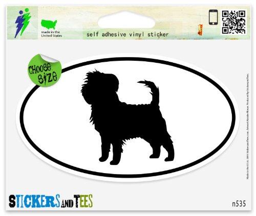 """Affenpinscher Dog Breed Shape Oval Car Sticker Indoor Outdoor 5"""" x 3"""""""