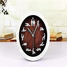 Personality fashion taste culture and art style couple alarm clock silent bell 12CM, white