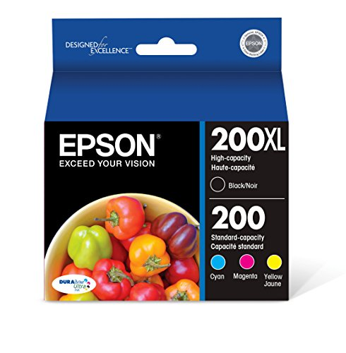 Epson T200XL-BCS DURA Ultra High Capacity Cartridge Ink Black and Color Combo Pack (Best Price For Epson Ink Cartridges)