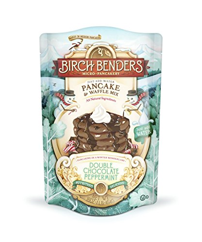 Birch Benders Pancake & Waffle Mix, Double Chocolate Peppermint, Pack of 1