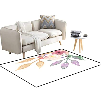 Amazon.com: Area Rugs for Bedroom Vintage Pastel Floral ...