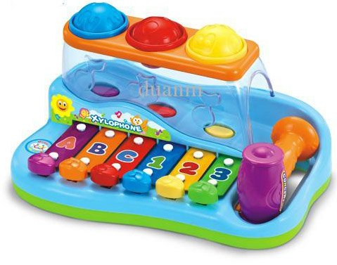 Liberty Imports Rainbow Xylophone Piano Pounding Bench for Kids with Balls and Hammer by Liberty Imports (Image #4)