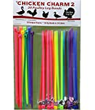 20 Chicken Charm TM 2 Poultry Leg Bands - Fit Sizes 7 to 14
