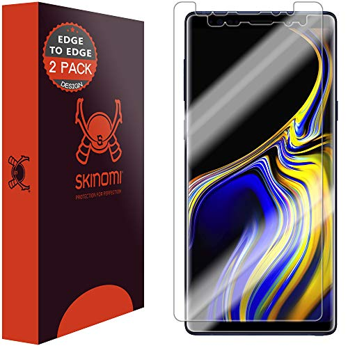Skinomi TechSkin [2-Pack] (Edge to Edge) Clear Screen Protector for Samsung Galaxy Note 9 [Full Coverage] Anti-Bubble HD TPU Film