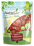 Food to Live Organic Sun-Dried Tomatoes (Salted, Non-GMO, Unsulfured, Bulk) (8 Ounces)