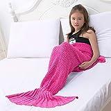 LAGHCAT Mermaid Tail Blanket Crochet Mermaid