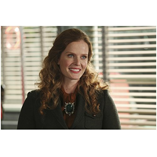 Rebecca Mader Once Upon a Time smiling in black coat in front of window 8 x 10 Inch Photo