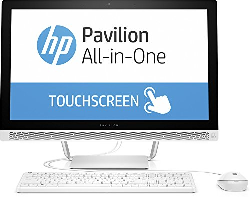 HP Pavilion (24-b151ng) 60,4 cm (23,8 Zoll / FHD IPS Touchscreen) All In One Desktop PC (Intel Core i7-6700T, 16 GB RAM, 128 GB SSD, 2 TB HDD, NVIDIA GeForce 930A, Windows 10 Home 64) Weiß