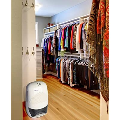 .com - Ivation IVADM35 Powerful Mid-Size Thermo-Electric Dehumidifier - Quietly Gathers Up to 20 Ounces of Water Per Day - for Bath Room, Basement, Attic, Boats, Rv Ect - for Spaces Up to 2, 200 Cubic Feet -