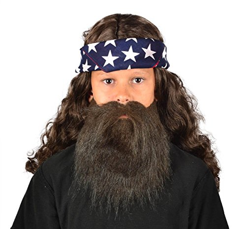 My Costume Wigs Duck Dynasty Child Willie Discount Set (Wig Discount)