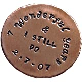 7 Year Anniversary Custom Personalised Copper Golf Ball Marker