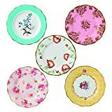 Royal Albert 40017562 100 Years 1950-1990 Plate Set, 8'', Multicolor ,5 Piece