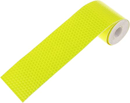 10FT Yellow Reflective Safety Warning Conspicuity Tape Roll Tape Film Sticker