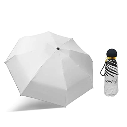 Upgraded Mini Travel Sun/&Rain Windproof Umbrella Lightweight Folding Compact Portable Parasol Outdoor Umbrellas Men Women Kids-Gray