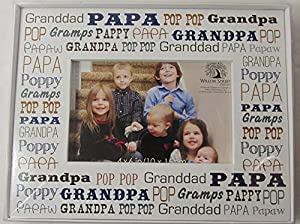 grampy papagranddadpop 4x6 photo frame