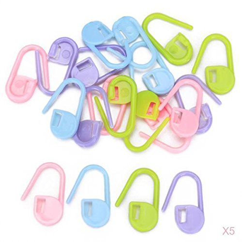 Multifunctional Knitting Crochet Stitch Markers Craft Assorted Color (Pack of Approx. 100Pcs)