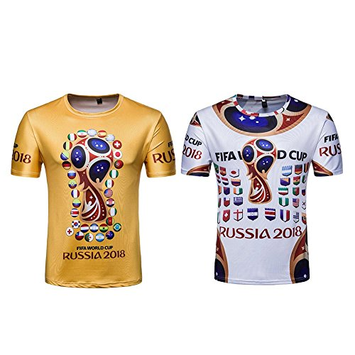 FINIFLY Unisex 2018 Soccer Teams Commemorate T-Shirt