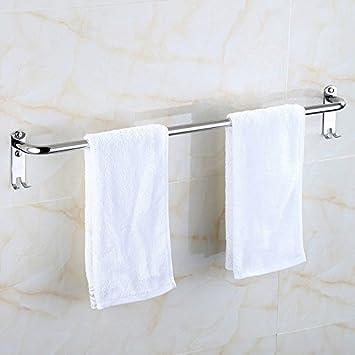 Hlluya toallero de Acero Inoxidable de una Sola Palanca Barra de Toalla de baño Toallas,80 cm Doble Ganchos, Barras de Toallas: Amazon.es: Hogar