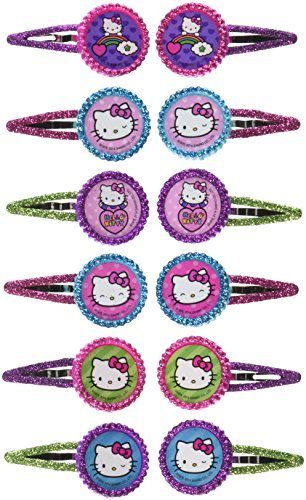 Glitter Hair Clip Favors | Hello Kitty Rainbow Collection | Party Accessory