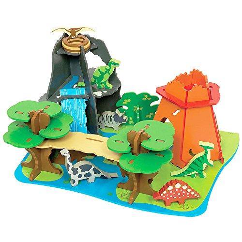Bigjigs Toys JT110 Heritage Playset Dino Island by Bigjigs Toys