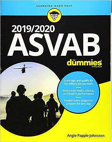 Amazon com: 2019/2020 ASVAB For Dummies (9781119560944): Angie