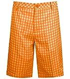 Puma Golf Boys Junior Novelty Shorts, Vibrant Orange/Orange, X-Large
