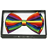 Search : Rainbow Suspenders, Knee High Socks, & Horizontal Striped Bow Tie Punk Gothic
