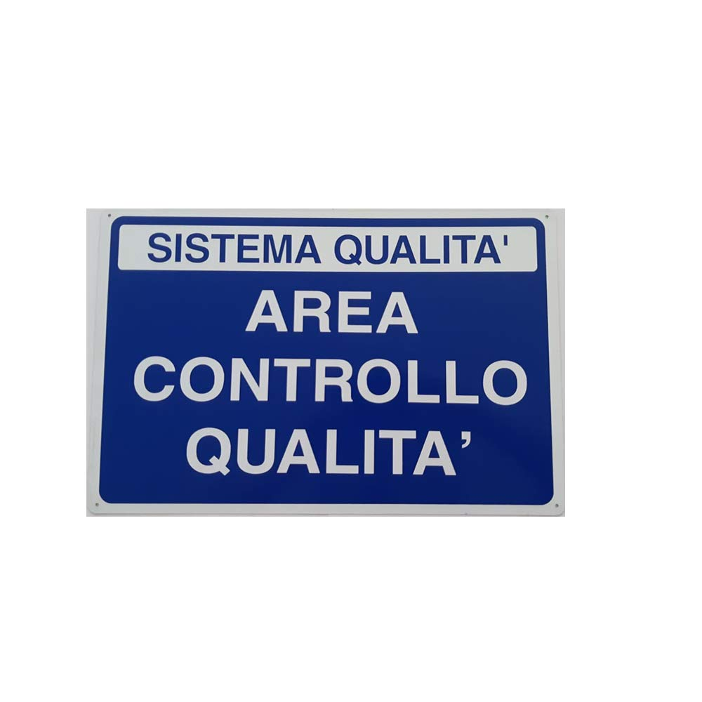 Cartel de Aluminio 50 x 33 cm - Sistema de Calidad - Área ...