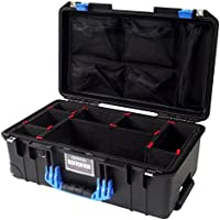 Black & Blue Pelican 1535 Air case, with TrekPak Dividers & 1535 lid organizer.