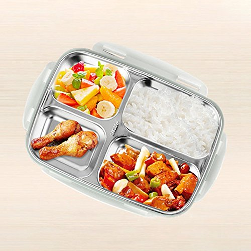 Stainless Steel Thermo Bento Lunch Boxs Japanese Food Box Insulated Lunchbox Thermal School Food Container Blue Wotrehome