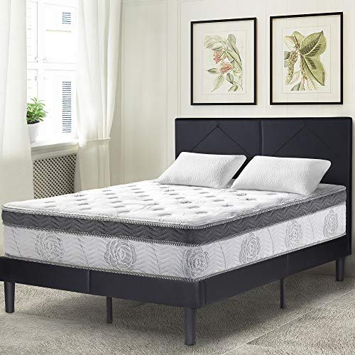 Olee Sleep 13 Inch Box Top Hybrid Gel Infused Memory Foam Innerspring Mattress (King) 13SM01K (Mattress Euro King Top)