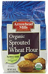 Arrowhead Mills Organic Sprouted Wheat Flour, 28 Ounce (Pack of 6)