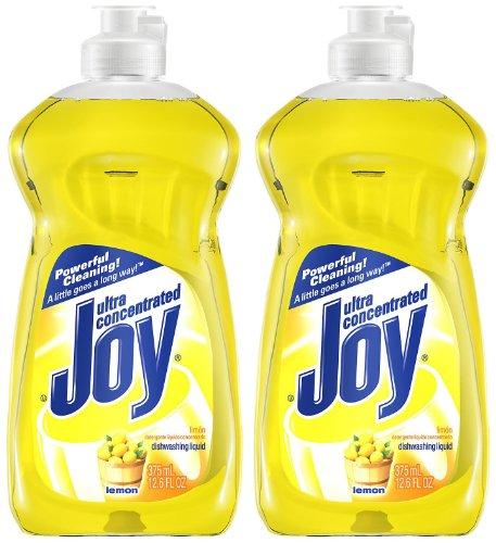Joy Ultra Dishwashing Liquid, Lemon Scent, 12.6oz, (Joy Dish Soap)
