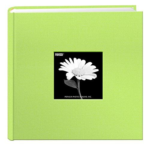 - Fabric Frame Cover Photo Album 200 Pockets Hold 4x6 Photos, Citrus Green