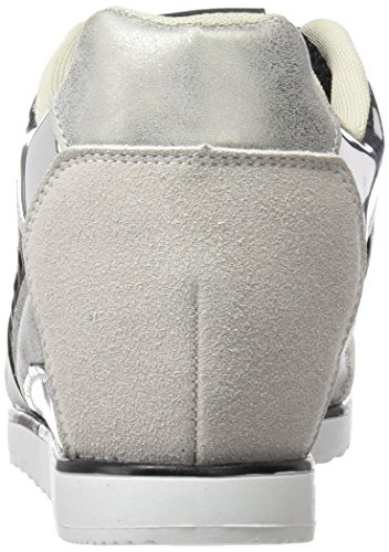 Plateado Maria S17 Aria Blanco Blanco Hielo Iride Mare Mesh Brush Espejo Suedi Plata Plata 4 para Mujer Zapatillas rXrwa