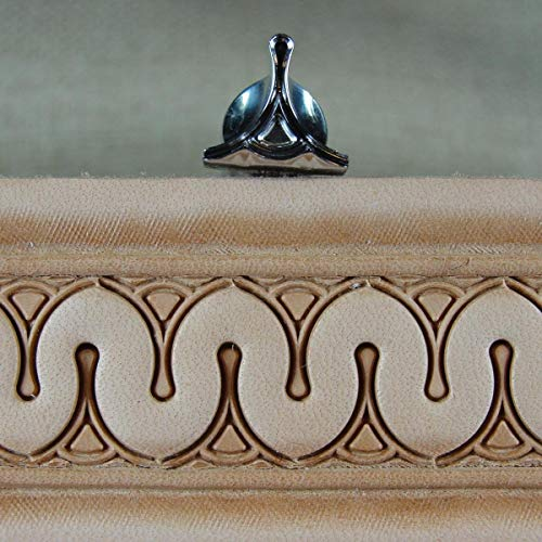 Stainless Steel Barry King - #2 Eiffel Serpentine Border Stamp (Leather - Leather Serpentine