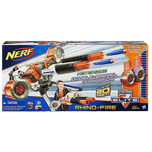 Nerf n strike elite rhino fire blaster import it all for Nerf motorized rapid fire blasting