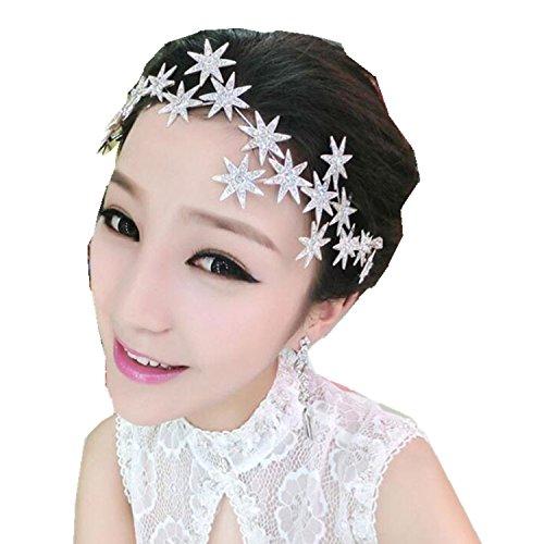 Wiipu Romantic Star Crystal Rhinestone Tiara Bridal Hair Accessories (A1717)