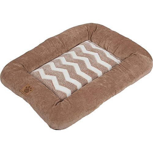 precision-pet-snoozzy-hip-as-a-zig-zag-low-bumper-mat-2000-tan-and-white