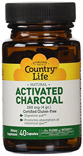 Cheap Country Life – Natural Activated Charcoal, 260 mg – 40 Gluten Free Capsules