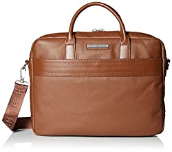 Tommy Hilfiger Briefcase For Men Morgan, Cognac