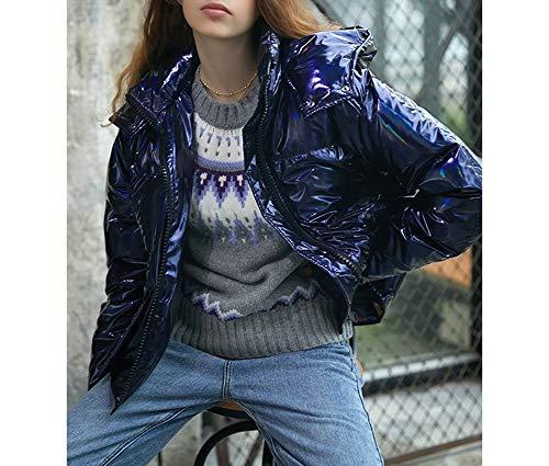 Hiver Style Mode Détachable Dames Down Lqyrf Royal Blue Démontable Col Chapeau Stand Jacket Street dnwTwzRq0
