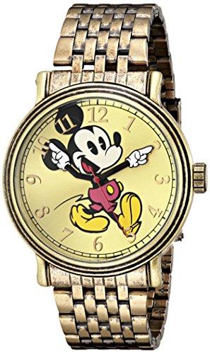 Disney Men's W001869 Mickey Mouse Analog Display Analog Quartz Gold Watch