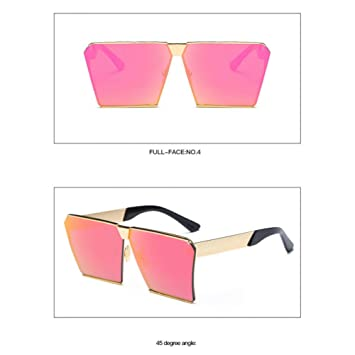 CCGSDJ Gafas De Sol Sin Montura Cuadradas De Gran Tamaño ...