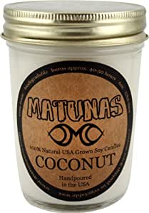 Matunas Soy Candle Glass - Coconut