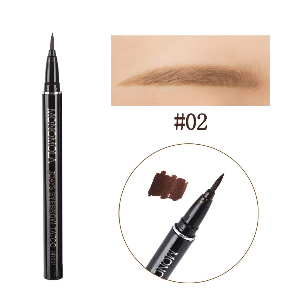Amazon.com : Shouhengda Eyebrow Pen Tattoo Pen Pencil Liner Long Lasting Waterproof Eyebrow Colors Makeup (2 Colors Pack(Light+Dark Brown)) : Beauty